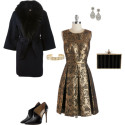 Gold Brocade Dress Outfit